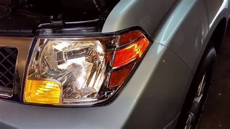 Nissan Frontier Testing Headlights After
