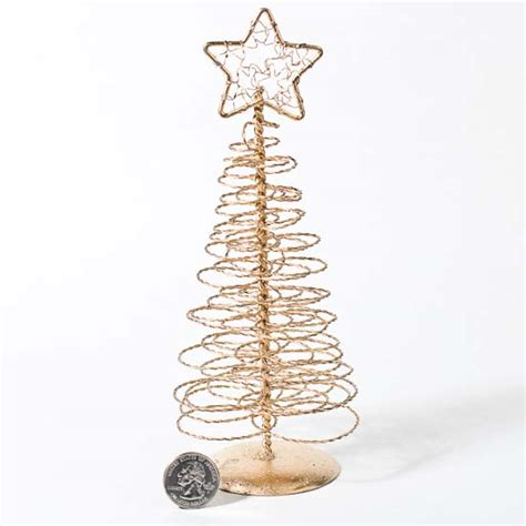 8 quot gold spun spiral wire tree christmas trees and