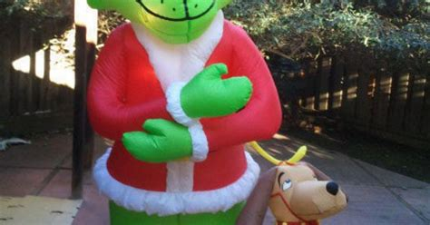 gemmy airblown inflatable blow  grinch max christmas