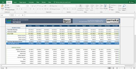 profit and loss excel spreadsheet profit and loss statement template free excel spreadsheet