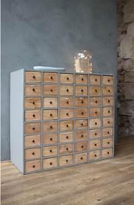 Meuble Multi Tiroirs : meuble de metier multi tiroirs petite belette idees peinture meubles pinterest meuble de ~ Teatrodelosmanantiales.com Idées de Décoration