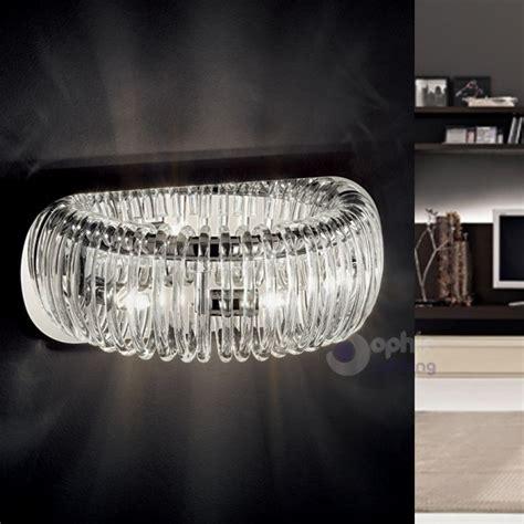 Applique Moderni by Lada Parete Design Moderno Vetro Pirex Cromata Corridoio