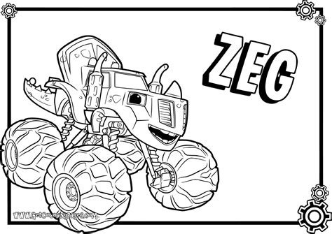Top 31 Blaze And The Monster Machines Coloring Pages