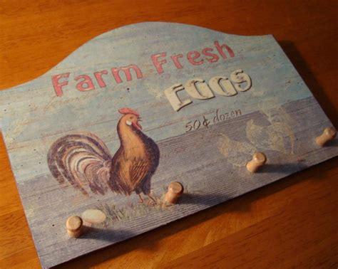 country primitive fresh eggs farm rooster chicken vintage