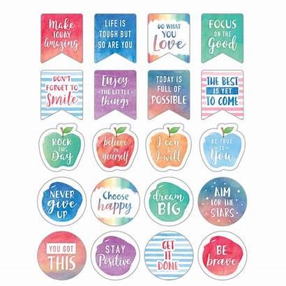 Stickers Planner Words Watercolor Inspire Teachercreated Teacher
