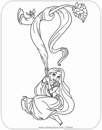 Coloring Rapunzel Tangled Pages Disneyclips Mother Disney