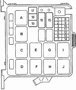 Honda Passport  1993 - 1997  - Fuse Box Diagram