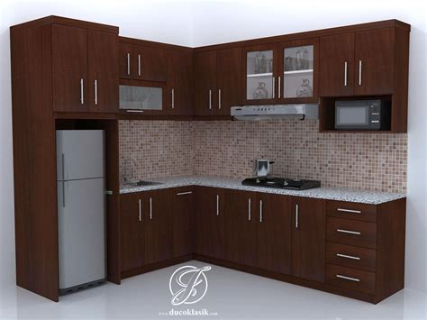 Jual Kitchen Set Minimalis Natural Model L Furniture