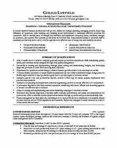 sample resume for operations manager resume design and With executive resume tips