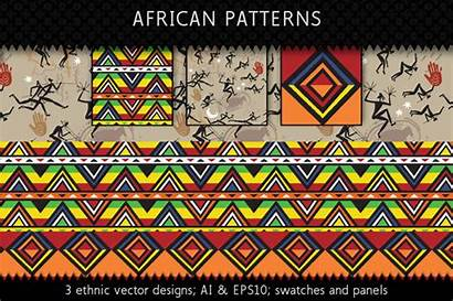 Patterns African Ethnic Textile Africa Fabric Vector