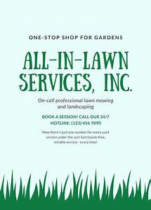 Cleaning Company Business Cards Customize 29 Landscaping Flyer Templates Online Canva