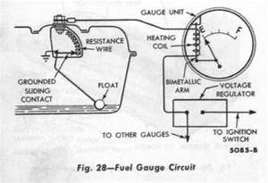 Fuel Gauge Circuit Diagram Of 1958 Ford Cars  U2013 Circuit