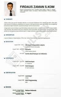 Format Cv Yang Bagus Example Good Resume Template