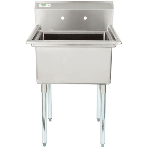 16 gauge stainless steel sink regency 28 quot 16 gauge stainless steel one compartment