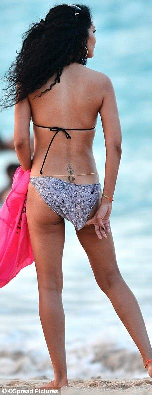 kimora lee simmons shows   beach body  st barts