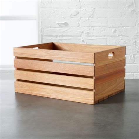 holiday wood storage box ideas modern storage bins cb2