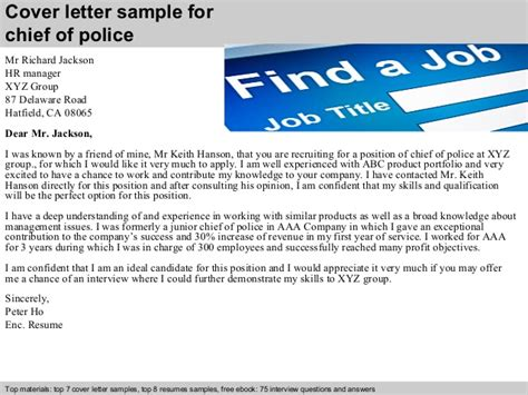 Police Cover Letter Sample | Chief Of Police Cover Letter Ivoiregion