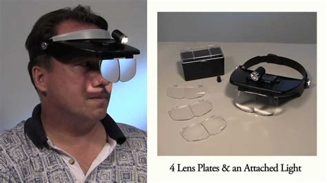 magnifier jewelers lighted headband magnifier  light
