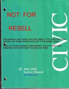 Pdf  Honda Civic Ej6 Ej7 Ej8 96 00 Service Manual