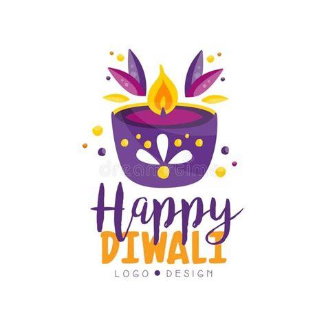 happy diwali logo design template hindu festival label