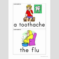 Health Flash Cards Worksheet  Free Esl Printable Worksheets Made By Teachers
