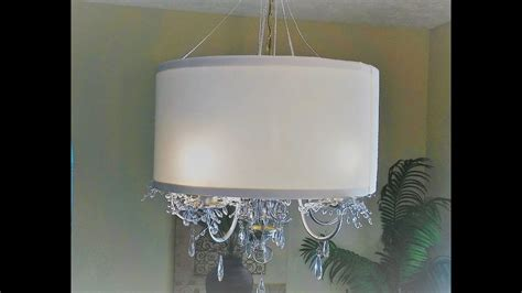 How To Make Chandelier by Diy Drum Lshade And Chandelier Makeover