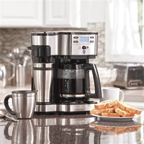To get the answer, we've reviewed hundreds of them and came up with this top 10 list. Hamilton Beach 2 Way Coffee Maker with 12 Cup Carafe and Pod Brewing, Black   Walmart Canada