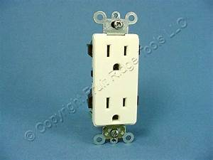 Leviton Almond Decora Commercial Receptacle Duplex Wall