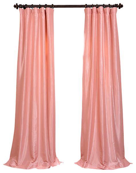 flamingo pink faux silk taffeta curtain traditional
