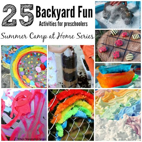 summer camp at home 25 backyard activities 139 | backyard fun summer kids activities preschool outdoor collages