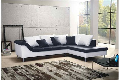 canapé d angle noir et blanc canapé d 39 angle design elvis convertible noir et blanc