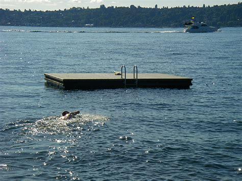 Boat Dock Swim Platform by Medina Amazing Race Swimming To Clue On Floating Swim