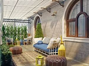 idees deco amenager une terrasse originale invitant a la With tapis exterieur avec canapé style club