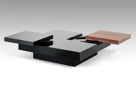 black contemporary coffee table modern coffee table vg412 contemporary