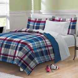 new varsity plaid teen boys bedding comforter sheet set