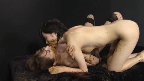 Lesbian Japanese Kissing Licking And Smearing Shit Scat