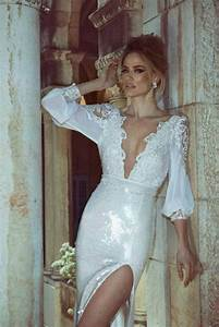 White lace cleavage dress when getting dressed feels for Wedding dress cleavage