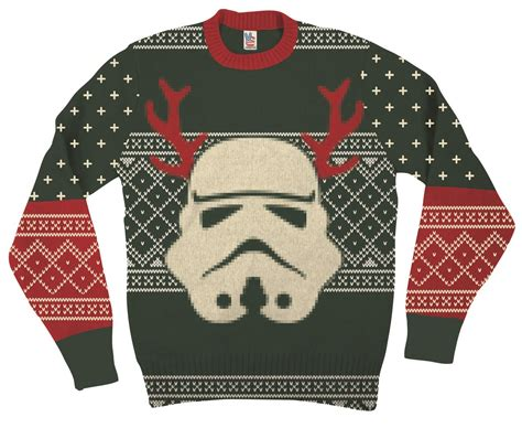 stormtrooper sweater wars stormtrooper with reindeer antlers green