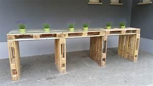 Europaletten Tisch Bauen : palettenm bel tisch aus europaletten bauen theo ~ Michelbontemps.com Haus und Dekorationen