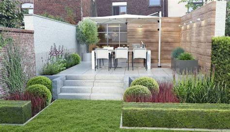 Moderne Häuser Gartengestaltung by Ideen Gartengestaltung Modern Hang Terrasse