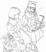 Coloring Pages Samantha Lissie Lilly sketch template