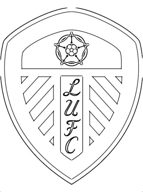 coloring page leeds united afc coloring pages