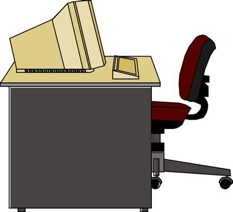 clipart bureau computer desk clip at clker com vector clip