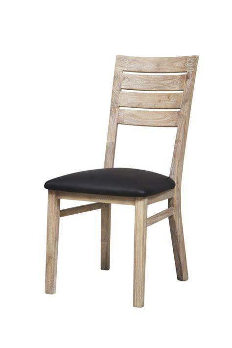 chaises de salle à manger chaise sejour praha acacia blanchi
