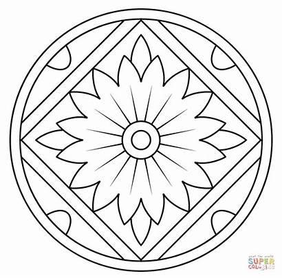 Mandala Coloring Pages Pattern Floral Kaleidoscope Printable
