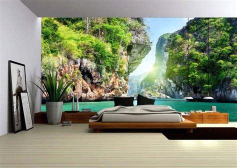 tendance deco chambre adulte papier peint 3d créant un effet abstrait et trompe l œil