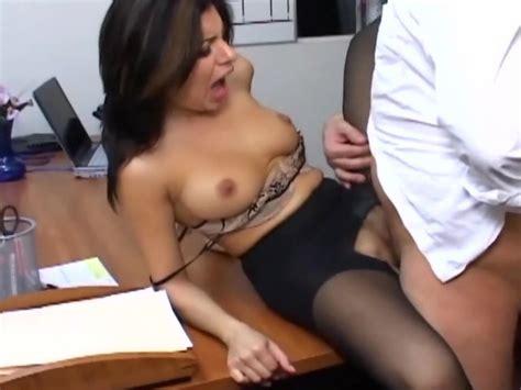 Busty Secretary In Sheer Pantyhose Has Office Sex Free