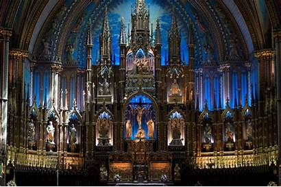Cathedral Montreal Glass Stained Church Background Desktop
