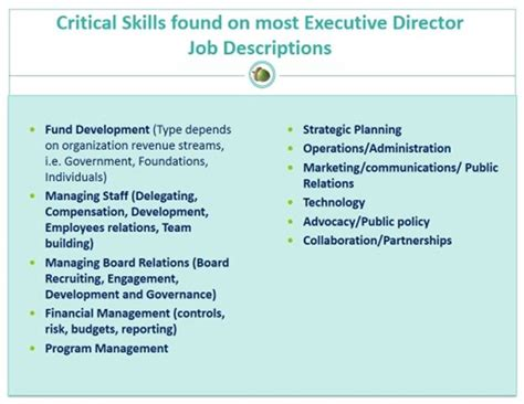 Listing Organizational Skills On Resume by Developing Nonprofit Executives The Skills Experiences Attributes Your Next Leader Needs