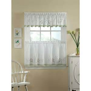 Kitchen Window Curtains Walmart by Chf You Garden Flowers Tailored Tier Curtain Panel Set